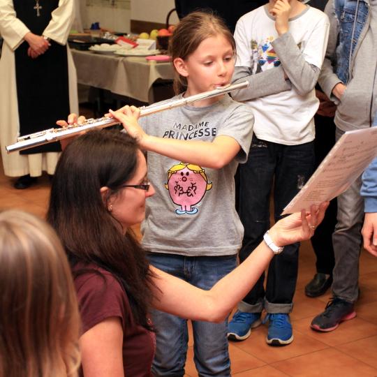 Mathilde à la flûte
